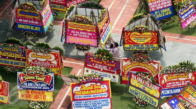 Berapa Omzet Penjual dari Fenomena Karangan Bunga untukAhok?